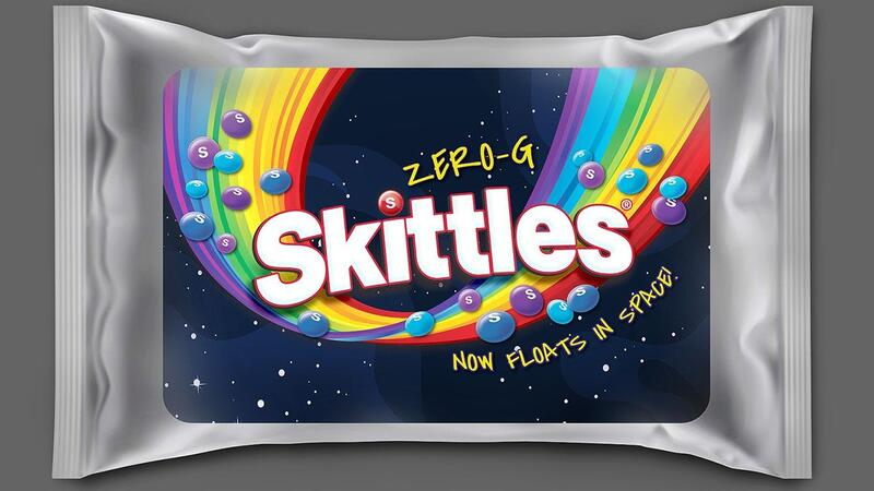 Skittles releasing Zero-g pack after candy goes to space