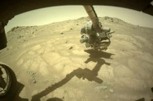 NASA's Mars rover snaps shots of unique rock formation in 'ancient lakebed'