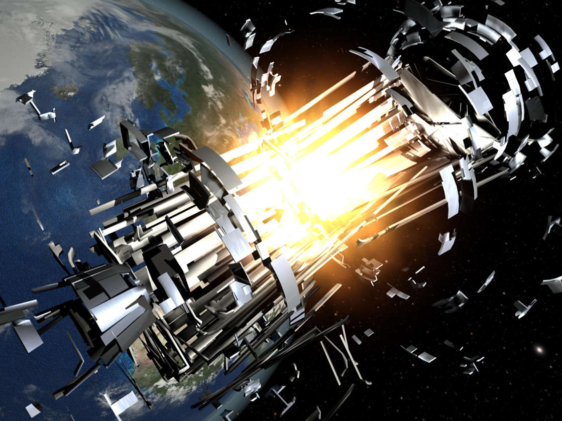 A Chinese satellite seems to have collided with a piece of a Russian rocket in March - the first big space crash in a decade