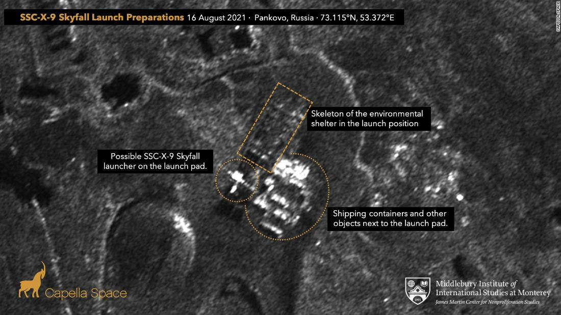 New satellite images show Russia may be preparing to test nuclear powered 'Skyfall' missile
