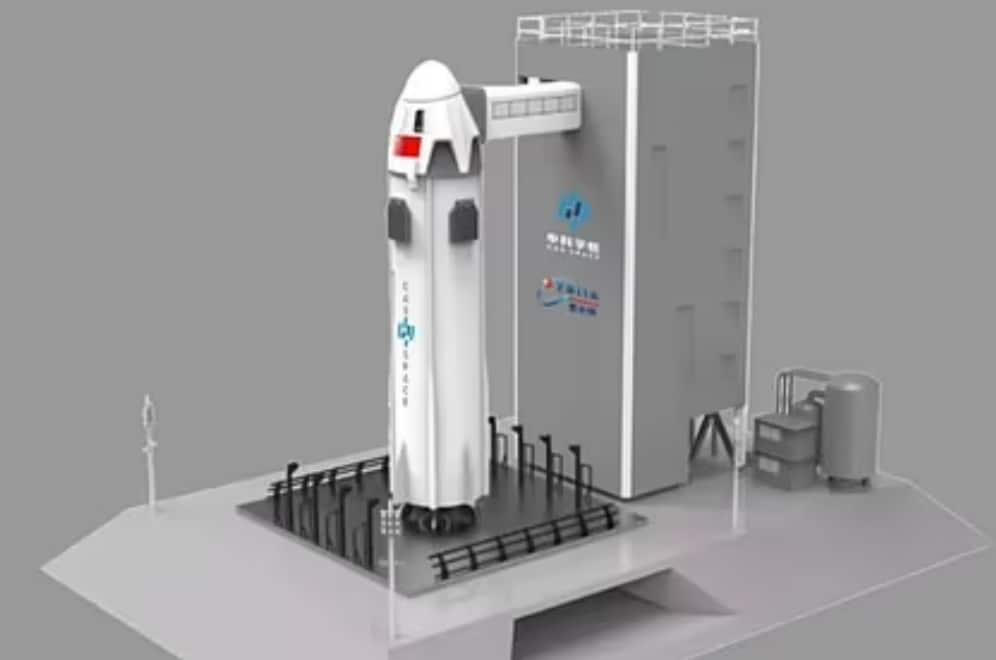 Look familiar? Chinese space tourism firm unveils new rocket that appears to have been heavily-inspired by SpaceX and Blue Origin's spacecraft