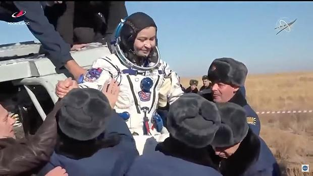 Russian film crew shot 30 hours of material on their 12-day trip to the space station