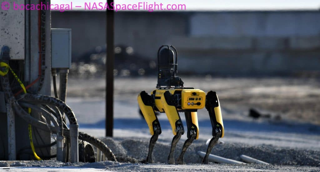 SpaceX uses robot dog to inspect Starship after first engine test in months